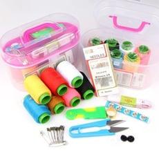 居家寶盒【SV9616】多功能針線盒 可攜帶針線盒 針線包 剪刀 尺 樣樣俱全 縫紉工具組 裁縫 逢