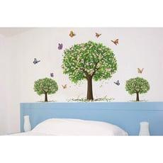 *限宅配**限宅配*居家寶盒【YV2011】創意可移動壁貼 牆貼 背景貼 壁貼樹 時尚組合壁貼 綠樹