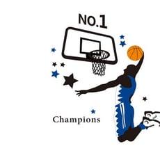 居家寶盒【YV1795-1】創意可重覆貼壁貼 居家裝飾 臥室 客廳 書房 籃球運動員灌籃AY1940