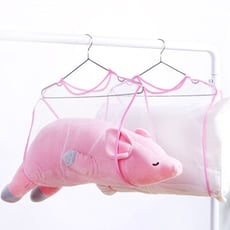 【居家寶盒】單層 曬枕頭網袋 曬玩偶袋 固定曬枕架 曬衣架子 枕頭 坐靠墊 毛絨玩偶娃娃 洗曬網袋