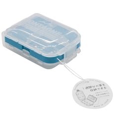 【居家寶盒】日本製No.1437 三段式摺疊藥盒 透明可視攜帶三層小物收納盒 多格 飾品收納 藥盒