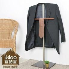 *限宅配**限宅配*居家寶盒【YV5088】ikloo極簡時尚西裝架/掛衣架 木架 掛桿 衣架 置物