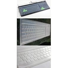 【居家寶盒】桌上型電腦鍵盤矽膠保護膜 透明鍵盤膜 通用鍵盤膜防水防塵防污