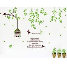 *限宅配**限宅配*居家寶盒【YP1432】時尚組合壁貼 牆貼 牆壁貼紙 創意璧貼 壁貼樹 牆壁裝飾