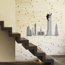 *限宅配**限宅配*居家寶盒【YV4493】創意可移動壁貼 牆貼 壁貼 背景貼 磁磚貼 時尚組合壁貼