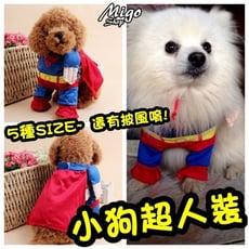 【小狗超人裝〈XS號(1號)現+預〉】五種尺寸 披風 超人裝 寵物衣服 小狗 貓咪 毛小孩