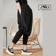 雙層設計鬆緊腰飛鼠褲哈倫褲低檔褲袴褲(S-L適穿)- 現貨快出【C1W2026】 iNio 衣著美學
