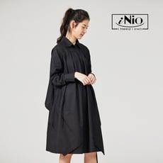 設計款長版襯衫洋裝連衣裙-現貨快出【C0W1295】 iNio 衣著美學