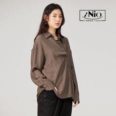 雙層口袋坑條長袖襯衫-現貨快出【C0W1303】 iNio 衣著美學