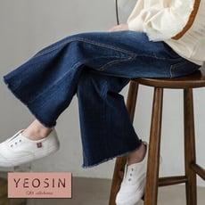 女童牛仔褲 側邊車縫寬鬆大喇叭長褲 韓國外貿中大童 QB allshine 19612574