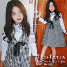 【QB allshine】女童上衣 甜美花瓣小高領正反兩穿長袖T恤 韓國外貿中大童