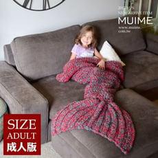 【QB allshine】美人魚針織毛毯 爆款!明星同款兒童保暖毯子