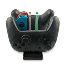 一次充六個!joycon+switch pro搖桿充電底座 switch ns必備週邊手把收納充電座