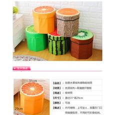 繽紛屋絨布水果凳儲物凳創意收納凳玩具收納箱小凳子換鞋凳儲物箱【免運】