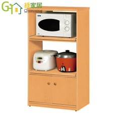 【綠家居】戴倫 環保2.2尺塑鋼二門二格餐櫃/收納櫃(四色可選)