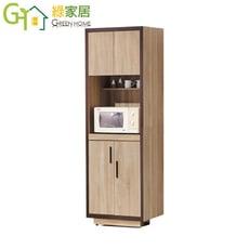【綠家居】沙蘿蒂 時尚2尺雙色高餐櫃/收納櫃
