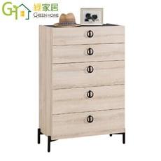 【綠家居】伊妮 現代2.7尺五斗櫃/收納櫃