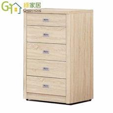 【綠家居】吉特 時尚2.5尺木紋五斗櫃/收納櫃