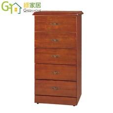 【綠家居】蕾美沙 時尚2.2尺木紋五斗櫃/收納櫃