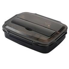 【四格】SG623 不銹鋼分格飯盒 保溫學生快餐盒便當盒幼兒園防燙密封快餐盤