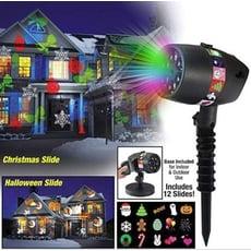 12圖投影燈【NF491】菲林投影燈 LED雪花燈 戶外造景投射燈 牆壁投影燈 裝飾派對 節日投影燈
