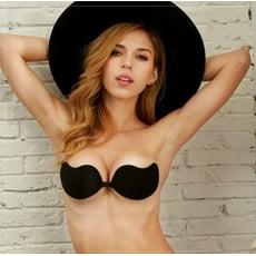 V bra鯨魚胸貼隱形胸罩 德國生物膠 夜店比基尼/深V爆乳婚紗禮服Vbra.Nu