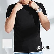 【男人幫】韓國V領素面短袖純棉T恤(BK015)