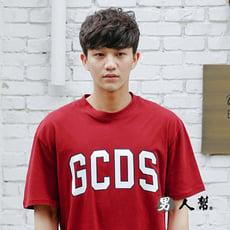 【男人幫】韓國英文字母印花短袖純棉T恤(T1529)