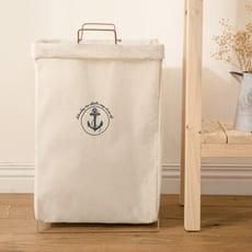 【百特兔】超大容量帆布手提摺疊置物洗衣籃(2色任選) P7839