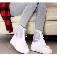 加厚版透明防水防滑拉鍊雨鞋套