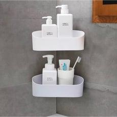 三腳架免打孔壁掛 廚房收納架 衛生間浴室洗漱架(隨機出貨)