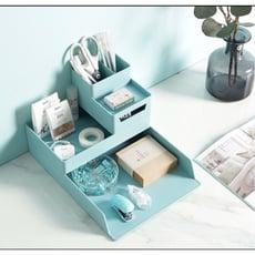 辦公室桌面文具整理套裝組 桌面收納盒a4收納盒*1小收納盒*1筆筒*1