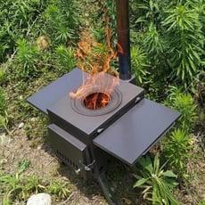 戶外露營燒烤野半氧化燃燒炊火箭筒柴火爐