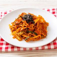 【上野物產】韓式辣醬豬肉炒麵(300g±10%/麵體+醬料/包)