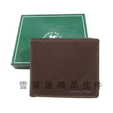 短夾專櫃男仕短夾100%進口軟牛皮標準尺寸固定型證件夾附品牌禮盒