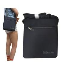 斜側包大容量扁包設計進口防水尼龍布材質蓋式主袋+外袋共三層肩斜側背隨身可放A4紙