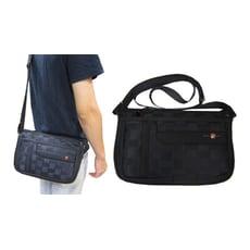 肩側包小容量二層主袋+外袋共五層輕巧隨身物品肩背可斜側背防水尼龍布主袋內二隔層