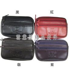 零錢包中容量主袋+外袋共三層進口防水防刮皮革材質多層設計零錢鑰匙證件包可放信用卡證件