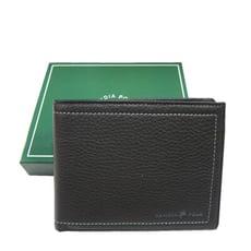 短夾專櫃男仕短夾100%進口軟牛皮加長尺寸固定型證件夾附品牌禮盒