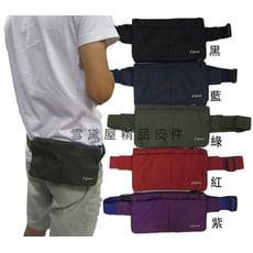 腰包小容量扁型設計主袋內三隔層防水尼龍布外出休閒運動上班旅行防竊盜貼身男女全齡適用