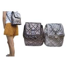 後背包小型容量束口+五金轉釦蓋式主袋進口防水牛皮革材質外出休閒隨身物品