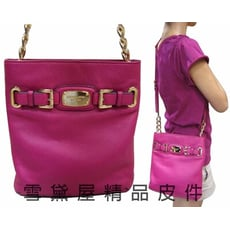 MICHAEL KORS斜側包國際品牌磁釦型簡式主袋100%進口軟牛皮革皮革隨身品包