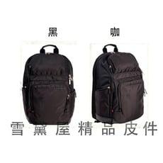 ~雪黛屋~eeBag 後背包大容量可A4資夾14吋電腦主袋+外袋共五層超輕航空電腦超輕防水尼龍布+皮