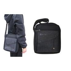 肩背包8吋平板中容量二主袋+外袋共五層防水尼龍布材質肩背斜側隨身包可刷洗