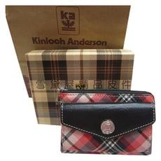 零錢包中容量英國專櫃鑰匙包專利緹花布+100%牛皮革材質