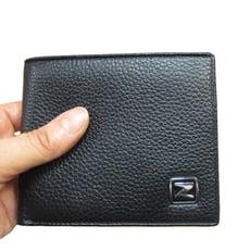 短夾男仕短型皮夾進口專櫃100%進口牛皮革材質固定型證件夾標準尺寸二折型主袋