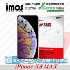 【現貨】免運 iMos APPLE iPhone Xs Max (6.5吋) 3SAS 螢幕保護貼