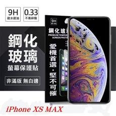 【愛瘋潮】Apple iPhone Xs Max 6.5吋 超強防爆鋼化玻璃保護貼 (非滿版) 螢幕