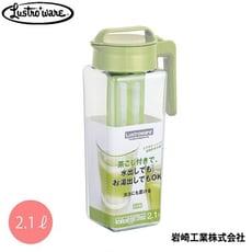 日本Lustroware 旋蓋式耐熱水壺2.1L(附濾網)2入組