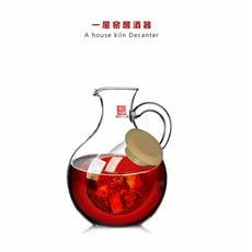 醒酒器 一屋窯高硼硅耐熱無鉛雙層玻璃紅酒醒酒溫酒冷酒器放冰塊加厚 快速出貨